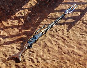 Mandalorian Amban Rifle - 3D Asset Kit PBR realtime