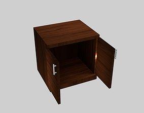 3D model Wood Exhibit Cabinet