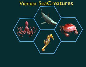 3D sea creature collection
