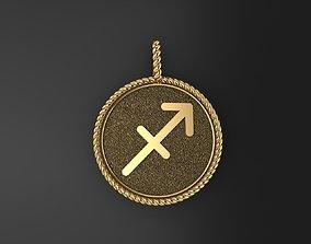 3D print model Sagittarius is a sign of the zodiac pendant