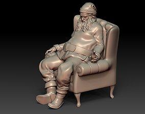 3D printable model Santa Claus Tired Drinking