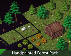 3D asset Handpainted Forest Pack v2