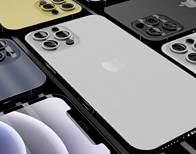 game-ready IPHONE 12 PRO MAX MODEL INCLUDES ALL FORMATS