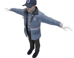 Emergency Medical Technician EMT 3D model