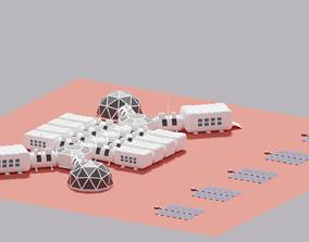 Martian Base Mars City Colony 3D model