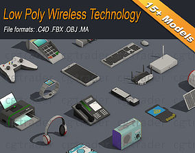 Low Poly Wireless Technology 3D model