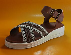 3D asset VR / AR ready Sandal Shoe PBR