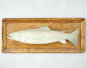 Antique Carved Fish Model from Lochaber Scotland 3D