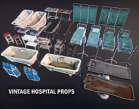 3D model Vintage hospital props