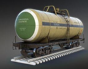3D model Railroad Tank Car
