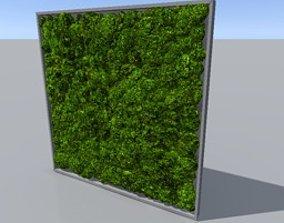 3D model green moss wall