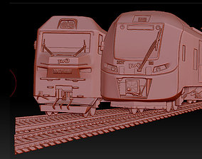 3D model of the train art