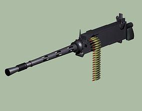 3D model Browning 303 machine gun