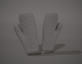 3D asset Grey Oven Glove