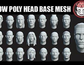 3D model Heads base meshes