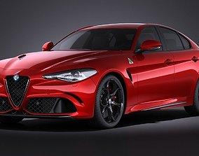 Alfa Romeo Giulia Quadrifoglio 2016 VRAY 3D