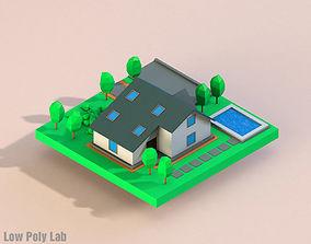 Cartoon City House 3D model