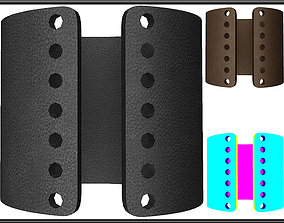 PERFORATED CIRCLE HOLES LEATHER BRACELET 3D model