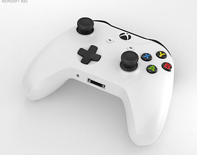 3D Microsoft Xbox One S Controller x-box