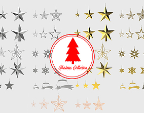 3D Christmas Tree Decoration Stars Collection