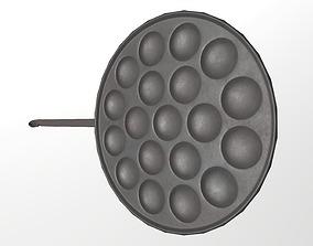 Pancake pan 3D asset low-poly