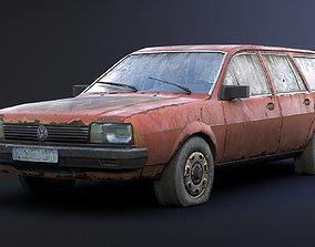 Volkswagen Passat Rusty 3D asset game-ready
