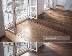 Wooden floor tile 3D