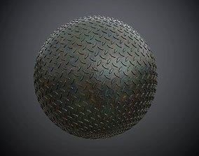 3D Metal Diamond Plate Military Seamless PBR Texture