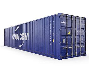 40 feet CMA-CGM standard shipping 3D model