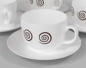 Cup and saucer for 3D printing cup