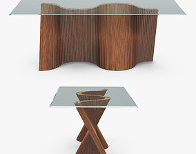 Wave Dining Table 3D