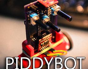 3D print model PIDDYBOT A Self Balancing Teaching Tool