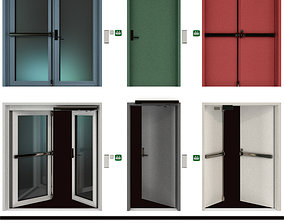 Metal fire doors 3D