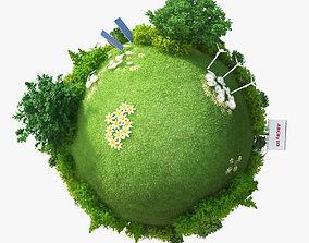 3D Green Planet Energy tree