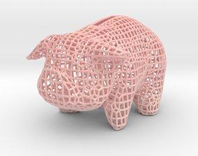 Wire Piggy Bank 3D printable model