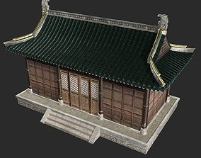 3D model Urban house construction buildings in ancient 1