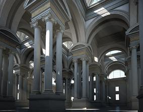 Ionic Hall 3D model hall