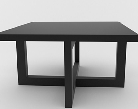 bar table 3D model low-poly