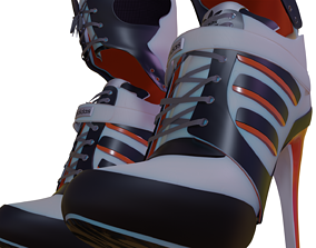 3D model Harley Quinn Shoes Suicide Squad Edition