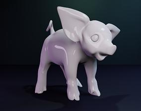 Pig Statue 3D print model