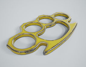 Brass Knuckles PBR Game Ready 3D model