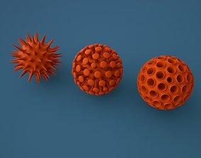 Virus shapes 3D printable model coronavirus