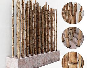 3D model Branch bambood decor concrete fundament