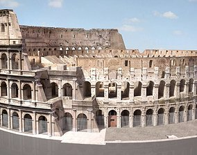 Roman Colosseum Ruins High detail 3D model