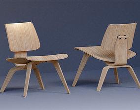 3D Replica Eames lounge Chair-wood