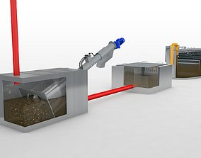 3D model Waste water System