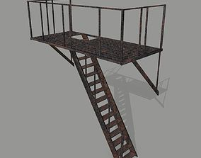 lowpolygon 3D model low-poly Fire Escape