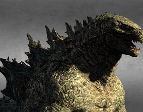 Godzilla 3D model rigged