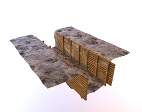 3D model ww1 trench