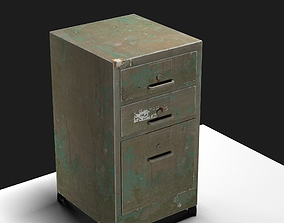 Painted Old Steel Cabinet 3D